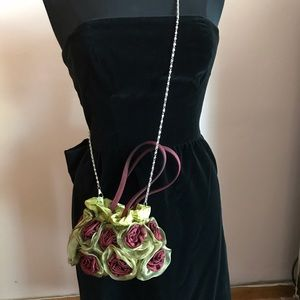 Vintage floral crossbody mini purse